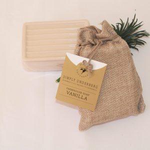 170g Vanilla Soap in Hessian Bag