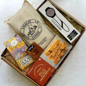 Coffee with Chocolate & Fudge Shortbread