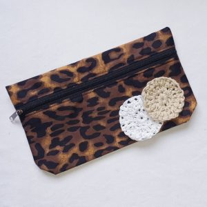 Cosmetic Purse and Cotton Swab Combo